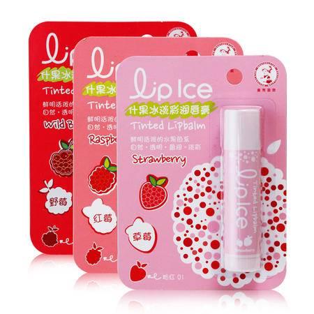 包邮 专柜正品曼秀雷敦什果冰淡彩润唇膏3.5g 保湿滋润裸妆口红护唇草莓女粉红