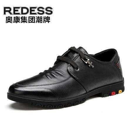 奥康红火鸟新款男士真皮商务休闲鞋休闲皮鞋商务范