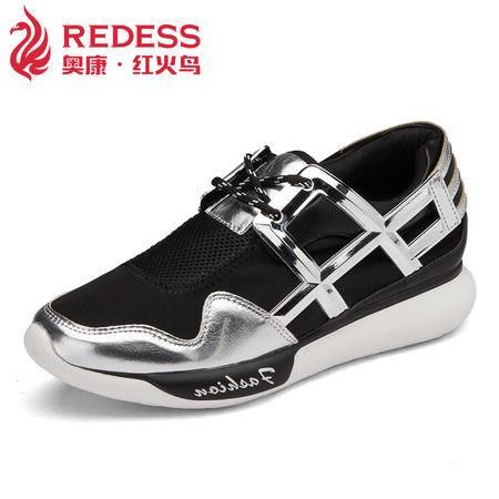 红火鸟奥康跑步运动休闲鞋网布韩版透气女鞋新款平跟平底鞋
