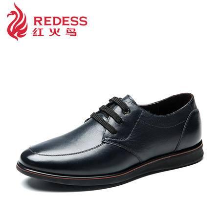 奥康红火鸟男鞋夏季新款正品真皮头层皮系带商务舒适休闲男式皮鞋