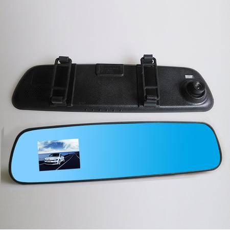 【江西农商】汽车行车记录仪1080P高清单镜头后视镜夜视迷你车载一体机2.4蓝屏