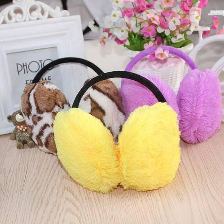 汉宝 冬季韩版仿兔毛女士后戴耳罩可爱保暖耳罩女生冬季耳包