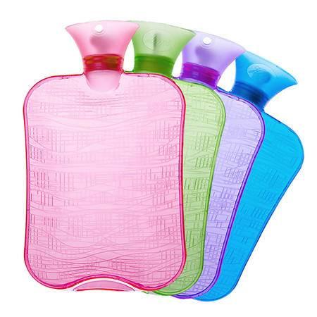 汉宝 加厚pvc充注水热水袋大号暖水袋带拆洗绒布暖手宝暖宫小号非橡胶