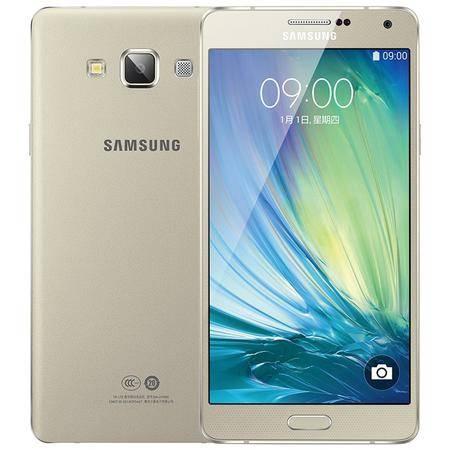 三星 Galaxy A7 (A7000) 移动联通4G手机 金色 套装送钢化膜