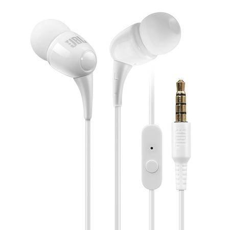 JBL T100A 立体声入耳式耳机 白色