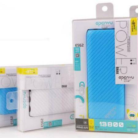 亿品原 E562-鱼纹系列13800毫安移动电源 蓝色