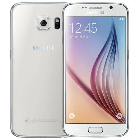 三星 Galaxy S6(G9200)32G版 雪晶白 移动联通电信4G手机 双卡双待 送钢化贴膜