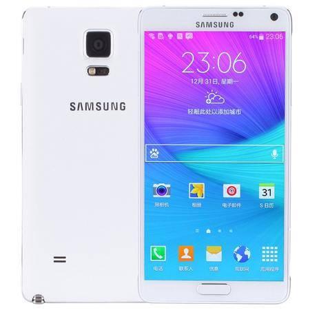 三星 Galaxy Note4 (N9100) 移动联通4G手机 白色 套装送钢化膜