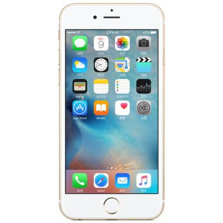 苹果 Apple iPhone6 (A1586)移动联通电信4G手机 金色 64G 套装送钢化膜