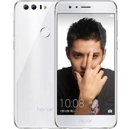 华为 荣耀8 全网通 移动联通电信4G手机 64G 白色(4Gram版)套装送钢化膜