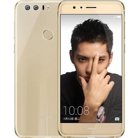 华为 荣耀8 全网通 移动联通电信4G手机 64G 金色 (4Gram版)套装送钢化膜