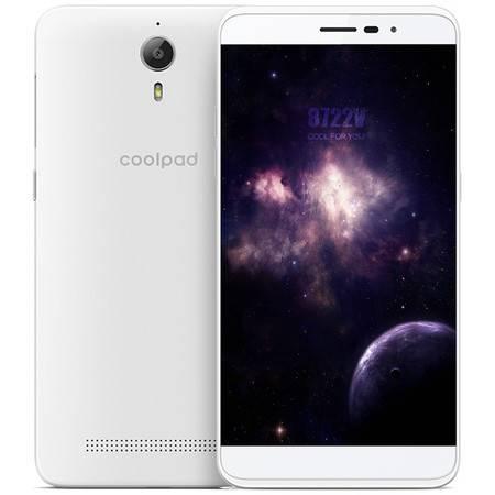 酷派 8722V 标准版 移动4G手机 白色