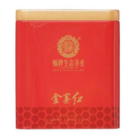 蝠牌金寨红茶 生态红茶雨前一级新茶叶 安徽特产礼品100g听装