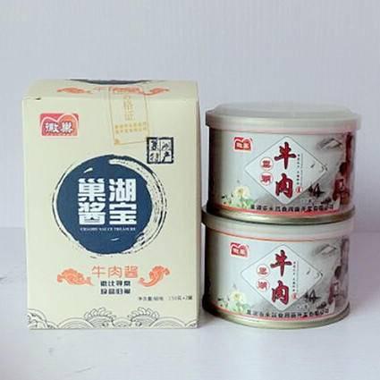徽巢  酱类调味酱灌头水产品  牛肉酱特辣 150g×2   巢湖酱宝小礼盒