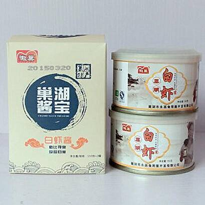 徽巢  酱类水产品小菜  白虾酱小礼盒巢湖酱宝   150g×2