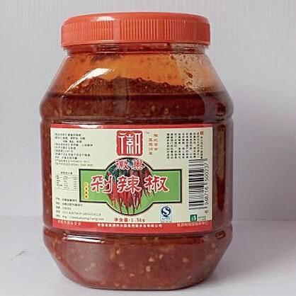 徽巢  酱类调味酱拌酱  剁椒酱  1.5kg