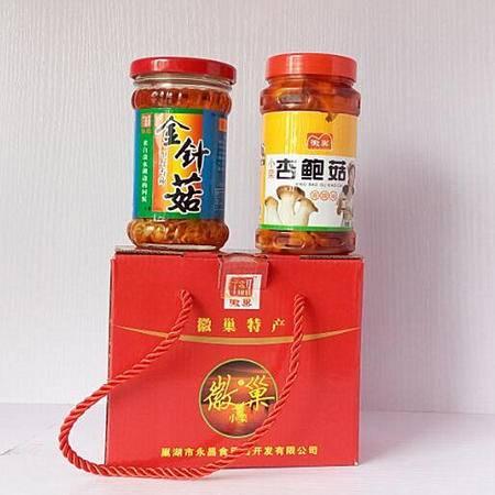 小菜 酱类 徽巢调味酱   180gx2   徽巢小菜  金针菇  杏鲍菇