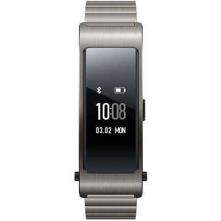 华为(HUAWEI)B3智能手环运动计步器蓝牙耳机智能手表B2升级版 预售-钛金灰(时尚版)