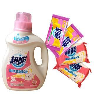 超能婴儿洗衣液800克+婴儿专用皂120两块+内衣专用皂162两块