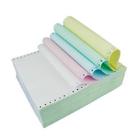 泛美达 全木浆高级电脑打印纸 241-5五联彩色 5箱/件(整张、二等分、三等分)