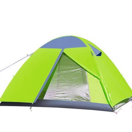 徽羚羊户外帐篷羚羊十号双人双层家庭露营防雨3-4人铝杆野营帐篷