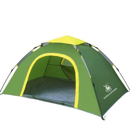 徽羚羊双人单层自动拉绳帐篷 双人野营装备 野外露营速开帐篷套装