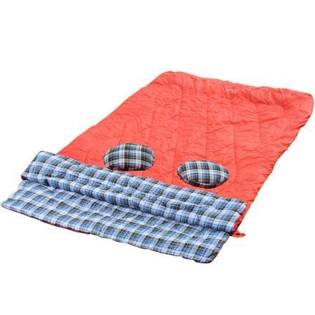 徽羚羊情侣双人法兰绒睡袋 户外野营四季棉睡袋成人露营野营睡袋