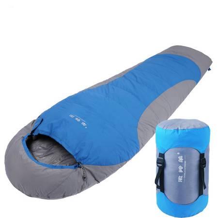 徽羚羊 羽绒睡袋 户外野营露宿成人冬季保暖睡袋 单人鸭绒睡袋