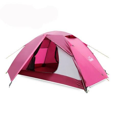 公狼户外帐篷双人双层双开门防雨野外露营帐篷铝杆帐篷装备