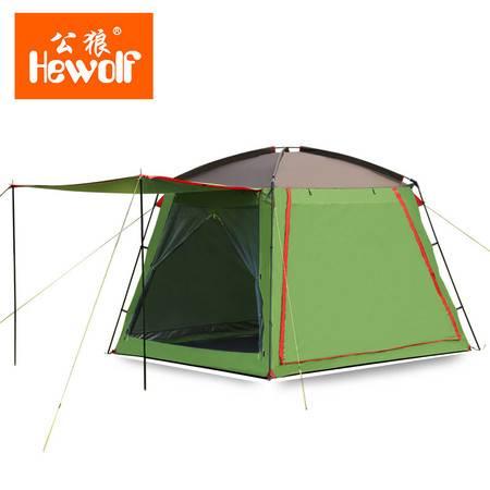 公狼户外帐篷5-8人多人沙滩防雨防晒帐篷 露营装备 团队出游帐篷