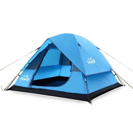 公狼一室一厅多人帐篷 3-4人自动帐多人一房一厅帐篷户外野营帐篷