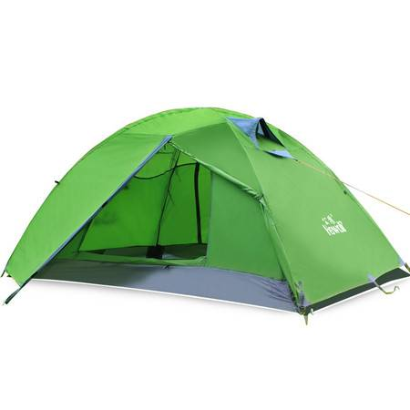 公狼帐篷 户外双人双层铝杆 四季野营露营用品户外野营自动帐篷