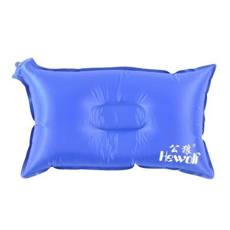 公狼户外 充气枕头 睡枕靠枕 旅行便携枕 颈枕 自动充气 护颈枕头