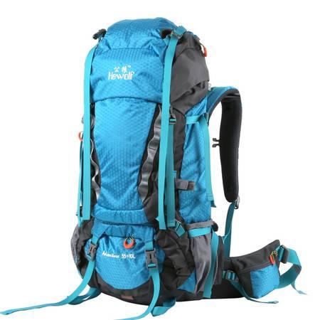 公狼65L 户外背包双肩 男女旅行旅游折叠背囊 骑行徒步登山包防水