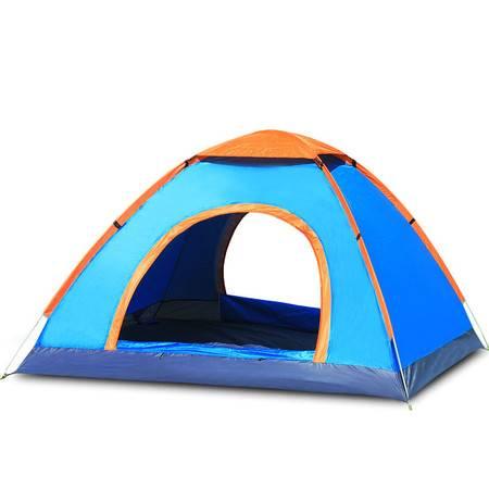 徽羚羊帐篷户外3-4人露营全自动手抛帐篷 防雨野营登山免搭建
