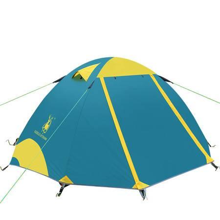 徽羚羊帐篷羚羊三号户外 铝杆防雨野外露营帐篷 双人双层野营装备