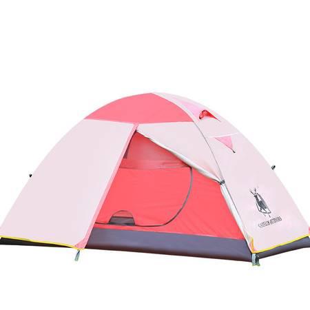 徽羚羊户外 单人双层铝杆帐篷装备 防雨登山露营防水透气帐篷