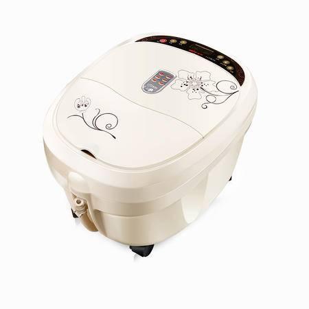 美妙电动足浴盆全自动按摩滚轮洗脚盆电动加热泡脚盆洗脚桶足疗盆