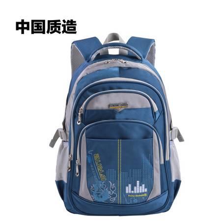 尊帝双肩背包男生高中小学生3-5年级书包学院风校园14寸电脑包女ZD151251