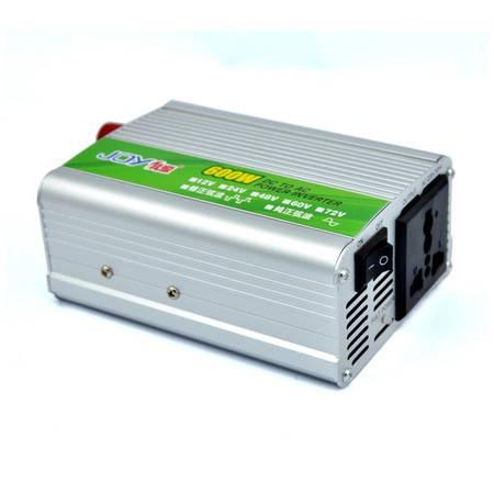 俱源接反保护12V600W车载逆变器(送点烟器、鱼尾夹连接线)