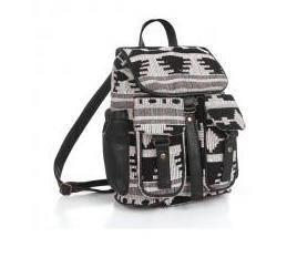 新款黑白色高档水波浪纹背包双肩包两用包