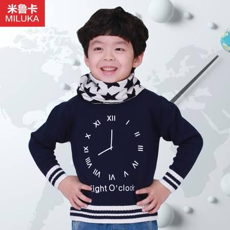童装男童毛衣圆领套头2015春装新款中大儿童毛衣纯棉针织衫韩版潮