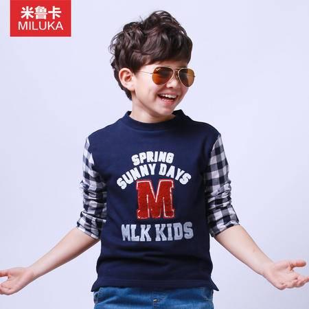 童装2015春装新款男童卫衣套头中大童上衣纯棉儿童运动外套假两件