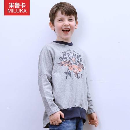 儿童装男童卫衣2015秋装新款儿童纯棉T恤长袖圆领套头蝙蝠衫韩版
