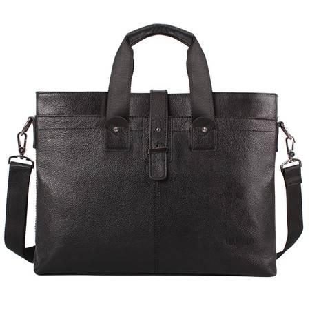 【河北电商】VIKEBOLO男式手提包 横款公文包男士包真皮商务单肩包斜挎包男款包包 背包