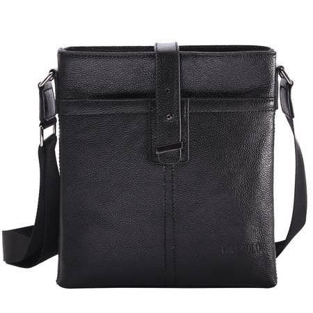 【河北电商】VIKEBOLO商务休闲男包竖款单肩斜挎包包男款头层牛皮手提包男式新款真皮包