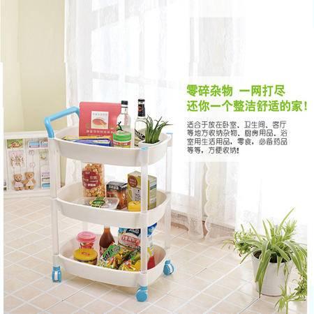 创意居家用品 手推式厨房卫生间浴室带滑轮收纳置物架
