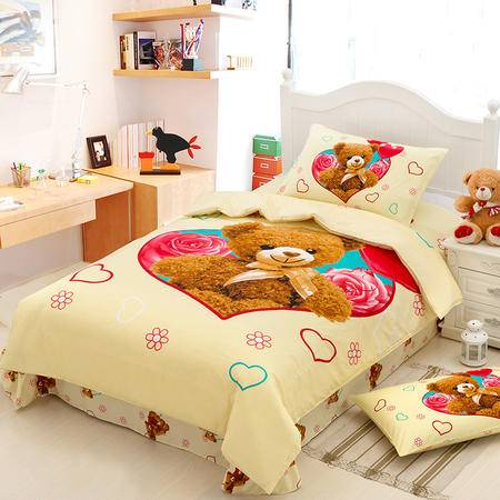 VIPLIFE纯棉儿童三件套 全棉床单被套卡通系列 专柜正品