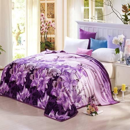 VIPLIFE高端貂狐绒春夏毛毯空调毯200*230CM田园花卉系列
