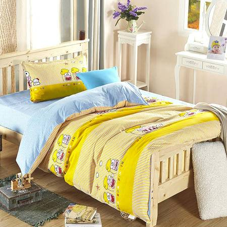 VIPLIFE精梳全棉活性印花三件套学生儿童三件套床单被套